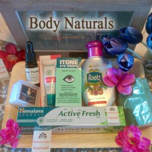 Natural body products for the bathroom